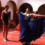 Learning how to dance ballet folklorico from the Ballet Folklorico Tradicional del Estado de Oaxaca