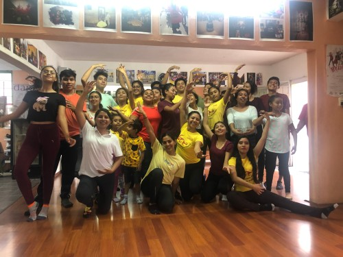 workshop with the Folklorico Group